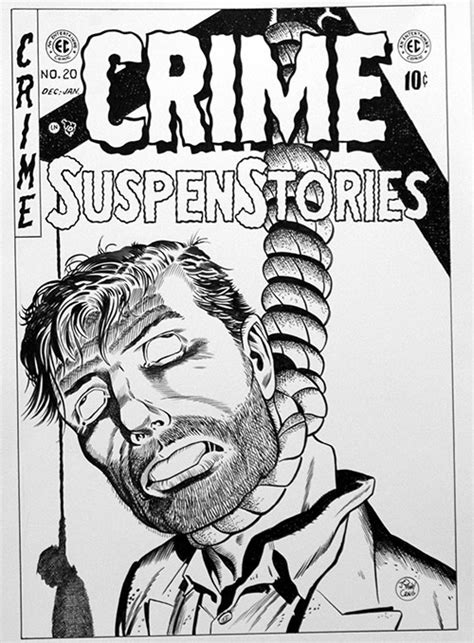 Crime SuspenStories Issue 20 cover Re-Creation by Bambos