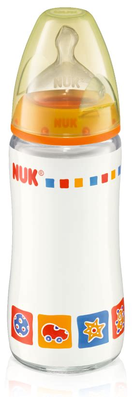 Nuk Printed Glass Bottle With Silicone Teat 240ml behabella shoppe pre order nuk baby bottles