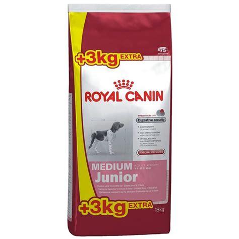 Dijamin Royal Canin Medium Junior 4 Kg granule royal canin medium junior 15 kg 3 kg euronics