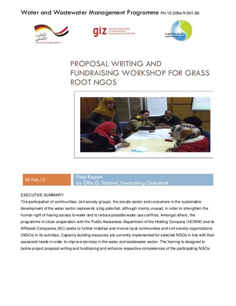 ngo report writing sle writing and fundraising workshop for grass root