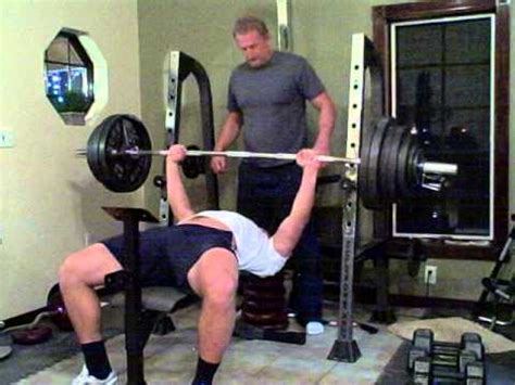 how many pounds is a bench press bar 430 pound bench press youtube