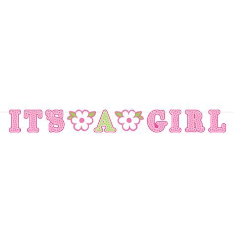 Welcome Baby Girl Illustrated Letter Banner   6 PKG/2 : Amscan International