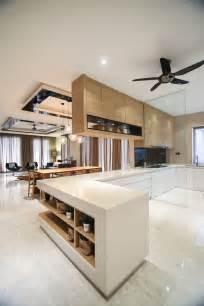 open dry  wet kitchen spaces combines  mix  light