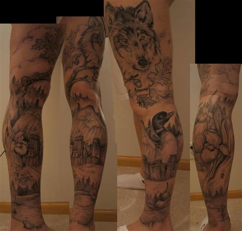 animal tattoo on leg off the map tattoo tattoos nature animal wolf