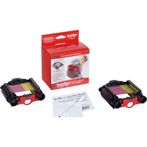 Badgy Ribbon Evolis Vbdg204 Eu Evolis Vbdg104eu Id Card Printer Ribbon Best Price