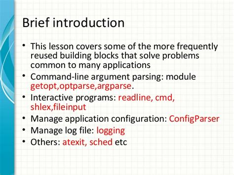 tutorial python getopt python advanced 3 the python std lib by exle
