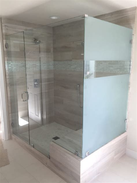 Sandblasted Glass Ecnlosure Patriot Glass And Mirror Sandblasted Glass Shower Doors