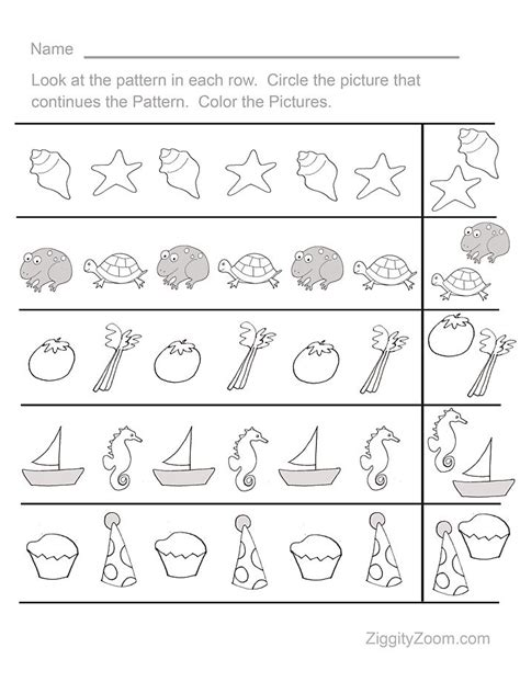 summer worksheets for pre k fun pattern sequence pre k worksheet 1 activities for