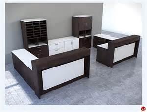 2 Person Reception Desk The Office Leader Peblo Custom 2 Person L Shape Reception Desk Workstation
