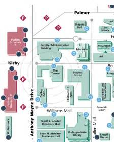 Wayne State University Campus Map by Campus Map Wayne State University Party Invitations Ideas