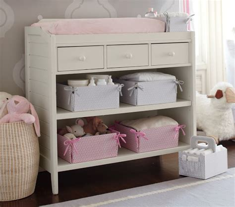 pottery barn changing table with baskets changing table pottery barn