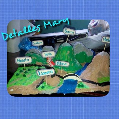 trabajo de maquetas de costas maquetas escolares relieve maqueta del relieve terrestre educaci 243 n primaria