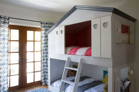 bunk bed house remodelaholic house shaped beds galore