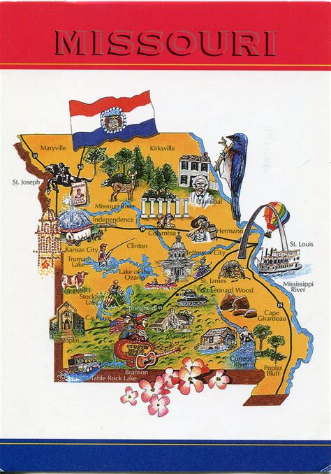 america map missouri map of missouri remembering letters and postcards