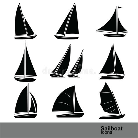 sailboat icon free vector sailboat vector stock vector illustration of boats water