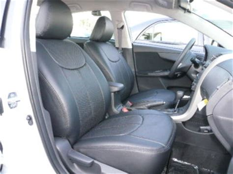Toyota Corolla Leather Seats Premium Seat Covers Toyota Corolla 2009 2010 Clazzio