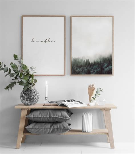 Bedroom Posters Prints Poster With The Text 226 Breathe 226 Typography Posters