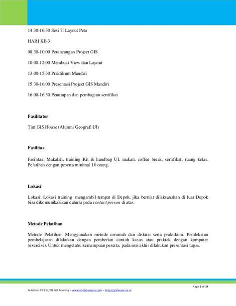 makalah layout peta pelatihan aplikasi gis untuk pengelola basis data basic