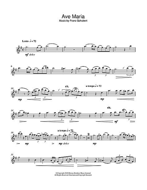 testo ave schubert ave sheet by franz schubert alto saxophone
