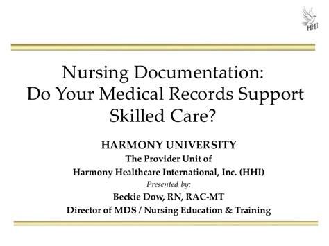nursing documentation do your records support