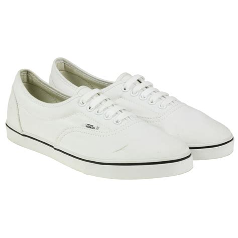 low profile sneakers vans lpe low profile sneakers skate white canvas shoes