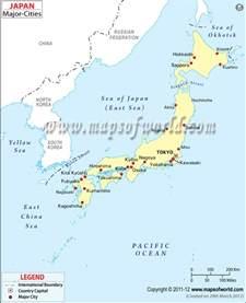 japan cities map major cities in japan