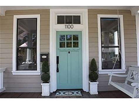 front door colors for tan house with brown trim aqua front door color with tan siding just about perfect