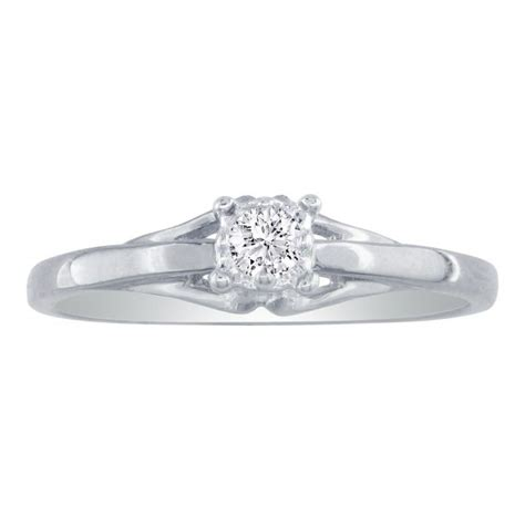 05ct promise ring in 10k white gold
