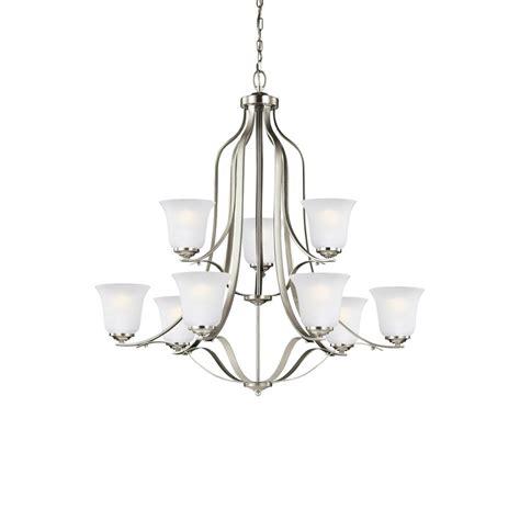 sea gull lighting chandelier sea gull lighting emmons 9 light brushed nickel chandelier