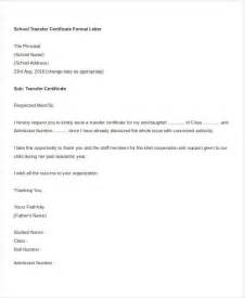 school transfer letter template 5 free word pdf format
