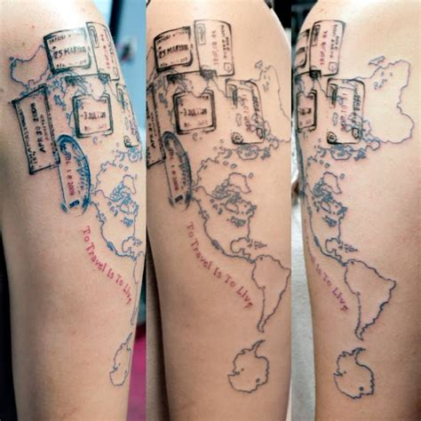 watercolor tattoos charlotte nc world map with passport sts by ande rummel at