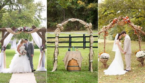 Wedding Arch Ideas With Burlap by Top 20 Rustic Burlap Wedding Arches Backdrop Ideas