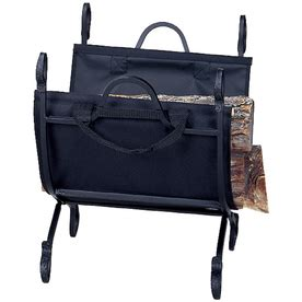 shop uniflame black rustica log rack at lowes