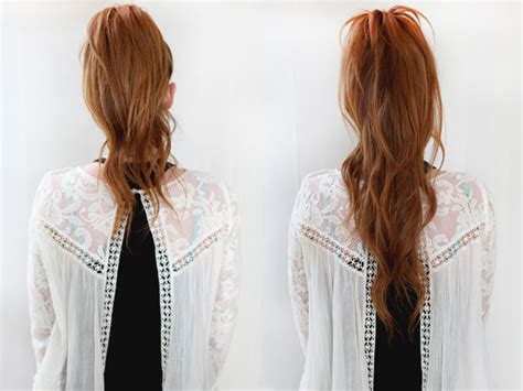 Hairstyles That Make Your Hair Look Longer by Easy Hair Trick Ponytail