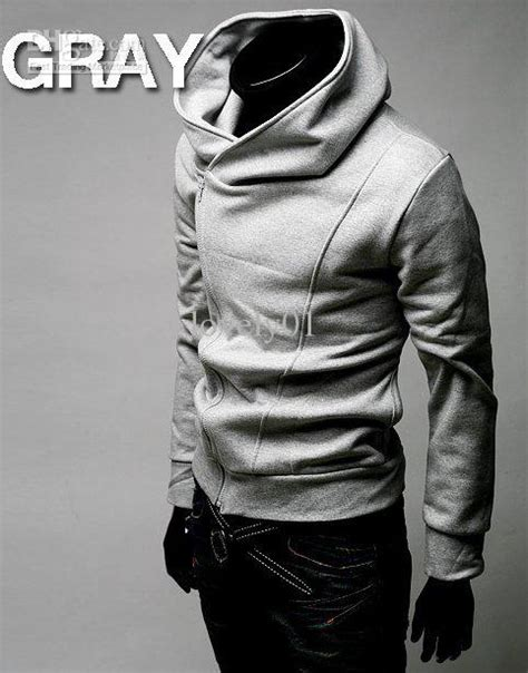 Jaket Korean Hoodie 19 Grayscale Size cool fashion s hoodies blended fleece hoody
