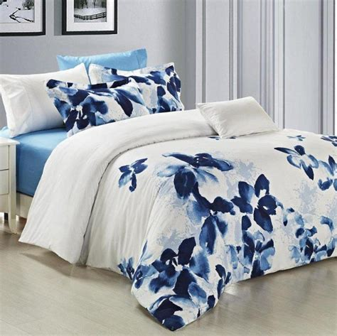 Blue Quilt Cover Blue Duvet Cover Sets Home Furniture Design