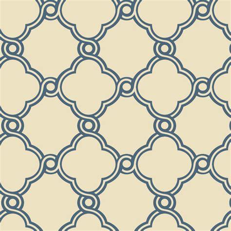 simple pattern on wall blue with beige open trellis wallpaper