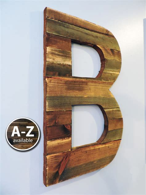 large wood large wood letters rustic letter cutout custom wooden wall