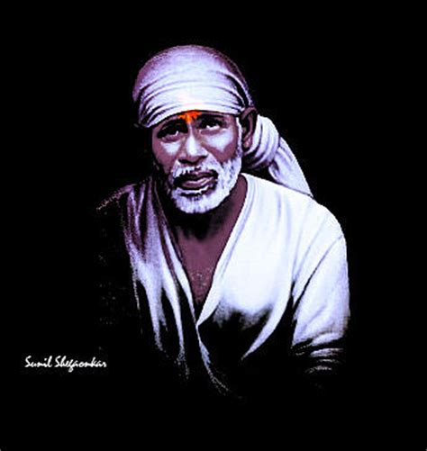 saibaba portrait 10 by sunil shegaonkar painting by