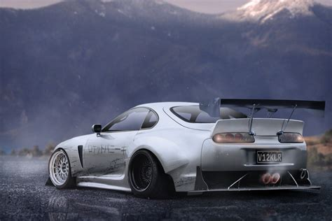 widebody supra wallpaper rocket bunny toyota supra by mattmcquiggan on deviantart