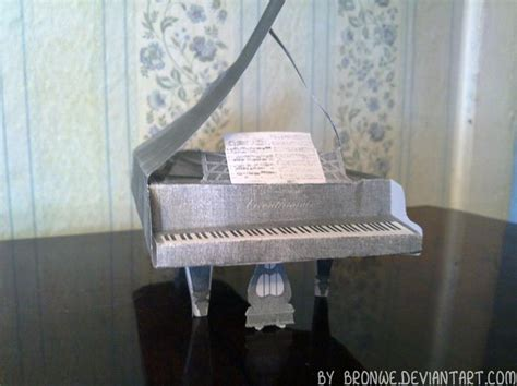 Piano Papercraft - the piano papercraft by bronwe on deviantart