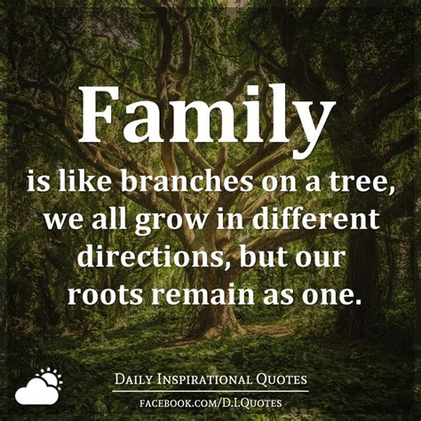 family is like branches on a tree we all grow in