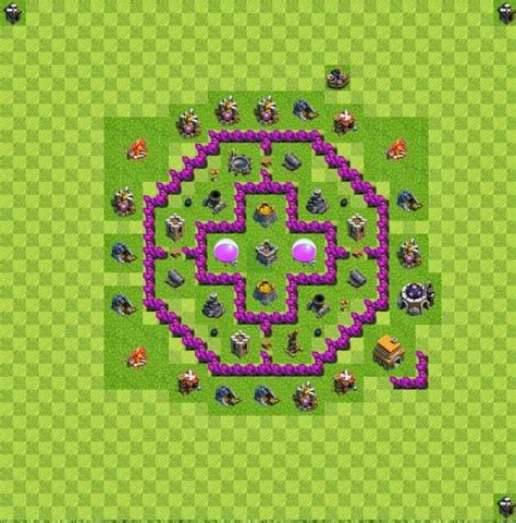 layout coc farming th6 ini dia formasi farming base coc 6 yanuar s blog