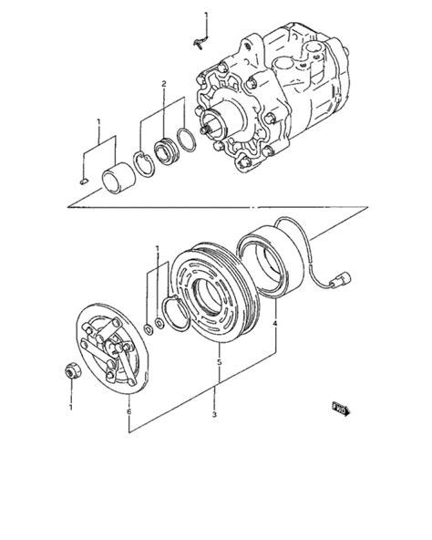Magnet Clutch Suzuki Escudo 1 6 compressor and magnet clutch for suzuki sidekick se416