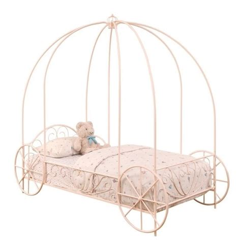 carriage twin bed coaster twin canopy carriage bed in pink 400155t