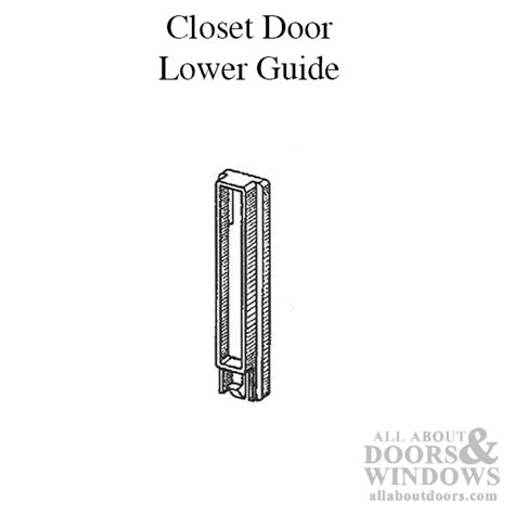 Closet Door Guide Closet Door Guide Lower