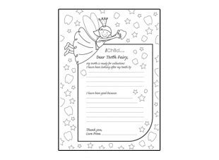 Tooth Writing Template by Letter To Tooth Template Ichild