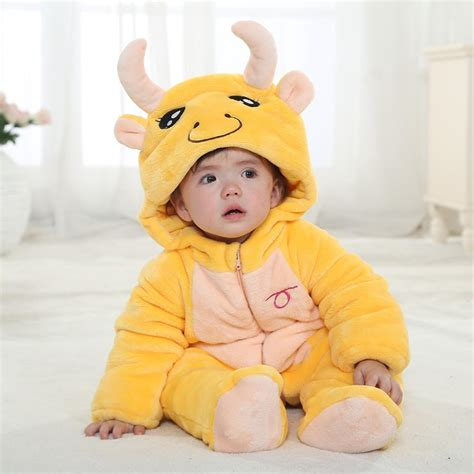 Baju Senam Sleeve Animal A 02 taurus winter type unisex playsuits romper toddlers