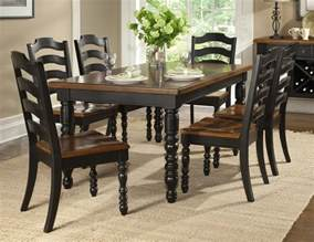 Black Wood Dining Room Set concord black 7 piece 54 215 38 leg table dining room set on sale online