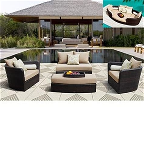 costco resin wicker lounge chairs 1 599 99 venice 4 pc modular seating lounge set by